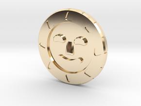 Golden Sun Coin in 14K Yellow Gold