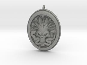 Skull and Snake Pendant 01 - 50mm in Gray Professional Plastic