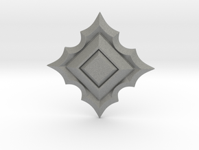 Jeweled Star 01 - 50mm in Gray Professional Plastic