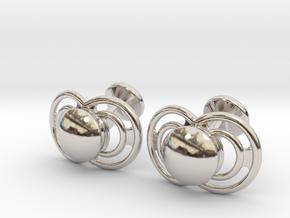 Pacifier Cufflinks in Platinum
