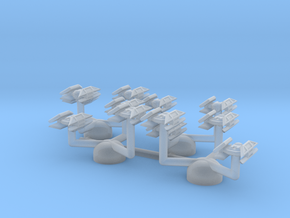 1/2256 TIE Avenger on tree-stands (x12) in Smooth Fine Detail Plastic