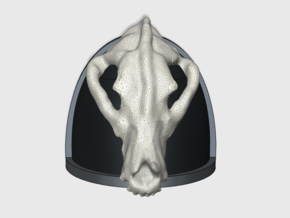 Real Wolf Skull - G4 Shoulder Pads x10 in Smooth Fine Detail Plastic