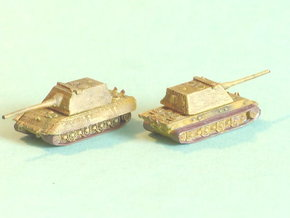 E-100 Heavy Tank Turret Variant 1 1/285 6mm in Smooth Fine Detail Plastic