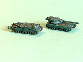 FV215b FV222 Conqueror Variants 1/285 6mm in Smooth Fine Detail Plastic