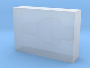 Brain Block Embedding Bottom in Smooth Fine Detail Plastic
