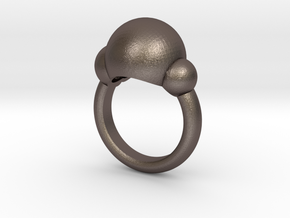 Bubbles Ring US Size 5 ¾ UK Size L in Polished Bronzed Silver Steel