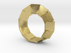 jewelry mobius segmented plates in Natural Brass: Large