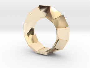 jewelry mobius segmented plates in 14k Gold Plated Brass: Large