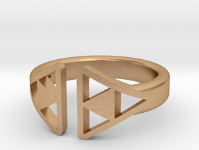 Female Trifocus ring in Natural Bronze