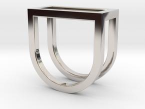 Ring - Levl in Rhodium Plated Brass: 4 / 46.5