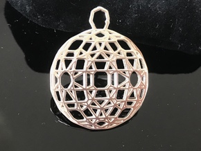 Flatter the earth in 14k Rose Gold Plated Brass