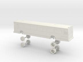 HO Scale Bus Gillig Phantom Foothill F1000s in White Natural Versatile Plastic