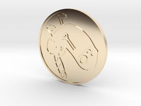 Butt light in 14k Gold Plated Brass
