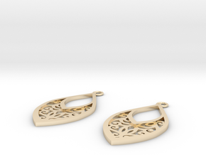 Edelmar earrings in 14k Gold Plated Brass: Small