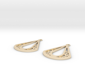 Calyson earrings in 14k Gold Plated Brass: Small