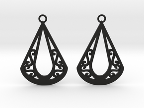 Calyson earrings in Black Natural Versatile Plastic: Medium