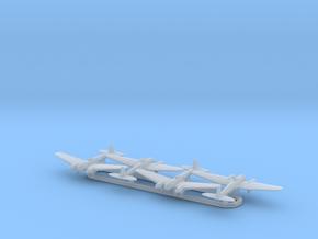 He 111 w/Gear x4 (FUD) in Smooth Fine Detail Plastic: 1:700
