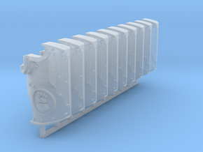 Royal Fists Boarding Shields x10 #1 in Smooth Fine Detail Plastic
