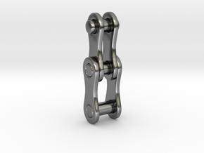 Bike chain [pendant] in Polished Silver