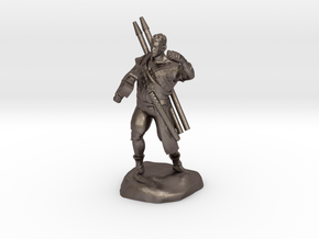 Half-orc pirate with Hammer and Net in Polished Bronzed Silver Steel