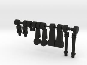 Big Acroyear II in Black Natural Versatile Plastic