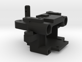 FR02 Front Bulkhead in Black Natural Versatile Plastic