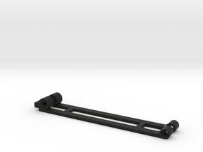 FR02 Side Arms For Bottom Carbon Fibre Plate Motor in Black Natural Versatile Plastic
