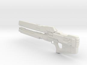 1/3rd Scale Halo Rail Gun in White Natural Versatile Plastic