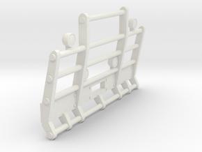 1/50th Herd or Road Train truck bumper in White Natural Versatile Plastic