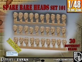 1/48 BareHeads Set101 in Smooth Fine Detail Plastic