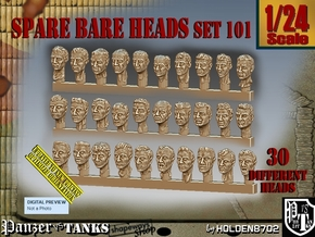 1/24 BareHeads Set101 in Smooth Fine Detail Plastic