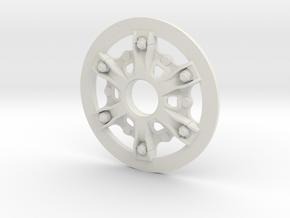 Disk-wheel-OD100mm in White Natural Versatile Plastic