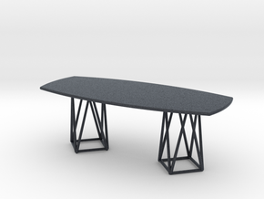Miniature Joco Dining Table - Walter Knoll in Black PA12: 1:12