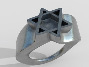Ring David Star Size 9 in Polished Silver
