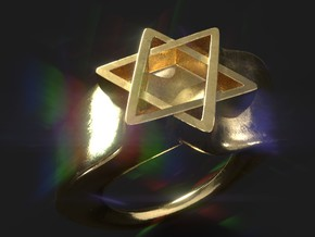 Ring David Star Size 9 in 14K Yellow Gold