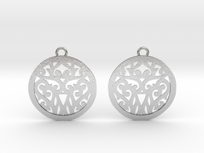 Elaine earrings in Natural Silver: Small