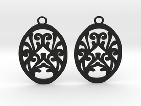 Olwen earrings in Black Natural Versatile Plastic: Small