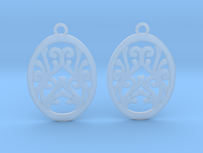 Olwen earrings in Smooth Fine Detail Plastic: Small