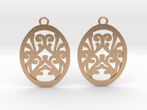 Olwen earrings in Natural Bronze: Small