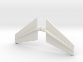Taurion Fins in White Natural Versatile Plastic