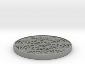 coaster with 1 cork insert cavity in Gray Professional Plastic