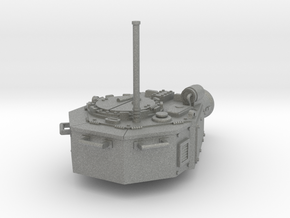 28mm Devastator tank turret (for new kit) in Gray Professional Plastic