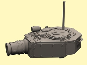 28mm Devastator tank turret (for new kit) in White Processed Versatile Plastic
