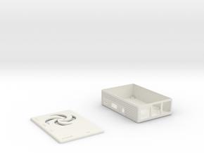 Spinner Raspberry Pi Case in White Natural Versatile Plastic