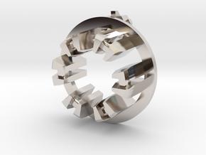 Graflex Mentor - Var2 Part04 - Arc Reactor 1 in Rhodium Plated Brass