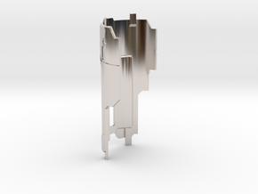 Graflex Mentor - Var2 Part16 - Cover Plate 2 in Rhodium Plated Brass
