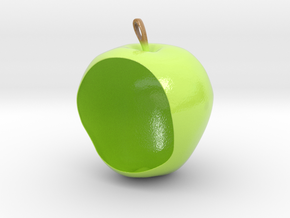 Apple Birdfeeder in Glossy Full Color Sandstone