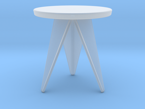 Miniature Q3 Coffee Table - Odesd2  in Smooth Fine Detail Plastic: 1:12