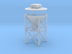 "'HO Scale' - 1"" PVC Dust Collector in Smooth Fine Detail Plastic"