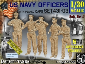 1/30 USN Officers Set431-03 in White Natural Versatile Plastic
